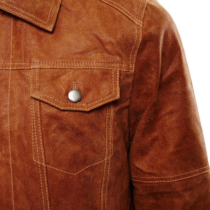 Męska kurtka skórzana bata, brązowy, 973-3104 - 16