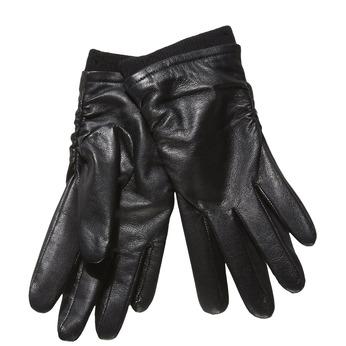 Skórzane damskie rękawiczki bata, czarny, 904-6107 - 13