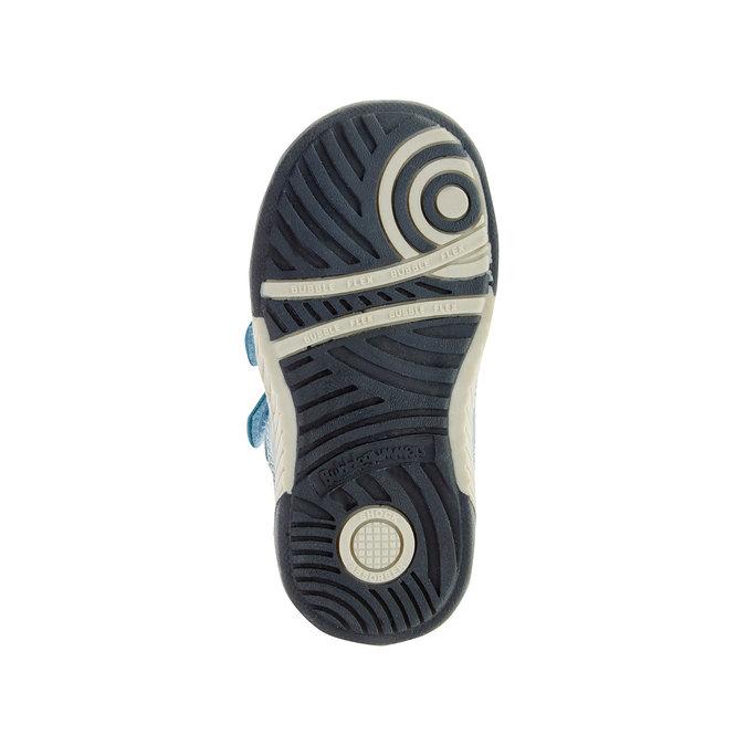 Dziecięce buty sportowe na rzepy bubblegummer, niebieski, 113-9145 - 26