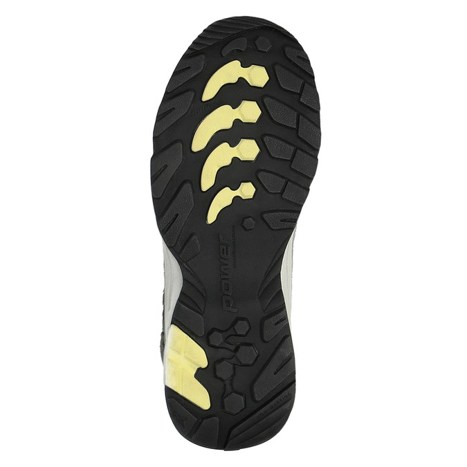 Damskie skórzane buty w stylu Outdoor power, szary, 503-2829 - 26