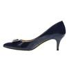 Czółenka damskie lakierowane bata, niebieski, 628-9630 - 26