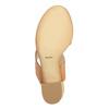 Skórzane sandały na szerokim obcasie bata, brązowy, 664-3205 - 26