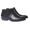 Skórzane buty w stylu Chelsea bata, czarny, 594-6106 - 26