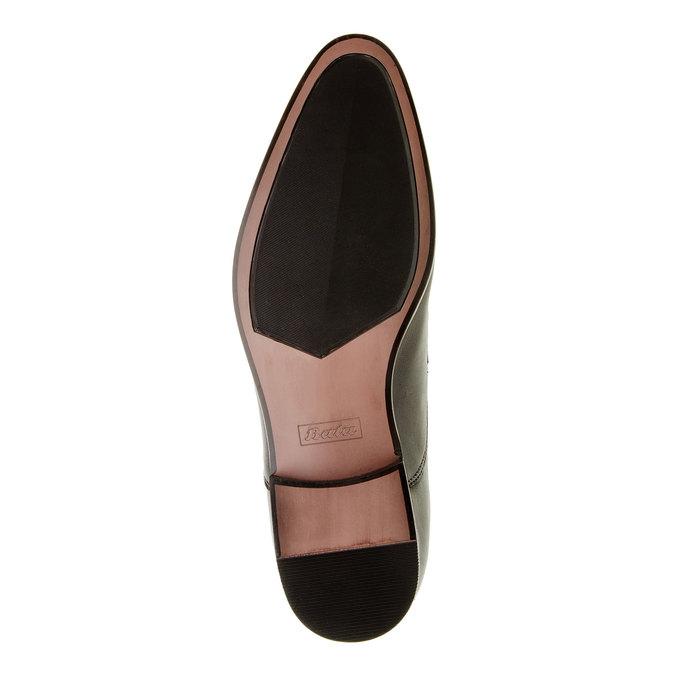 Męskie skórzane półbuty bata, czarny, 824-6663 - 26
