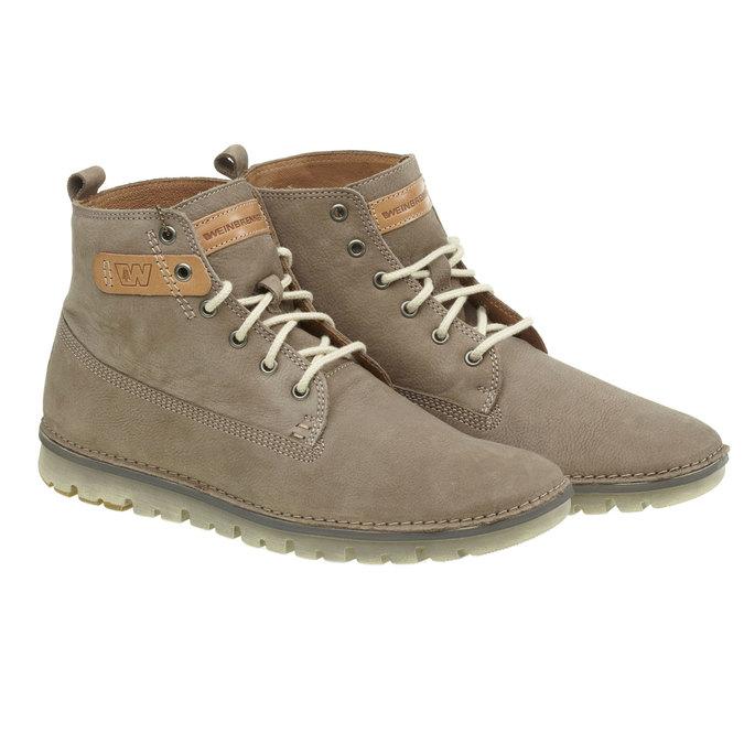 Skórzane buty do kostki weinbrenner, brązowy, 896-2340 - 26