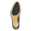 Czółenka ze skóry lakierowanej w czarnym kolorze hogl, czarny, 724-6010 - 26