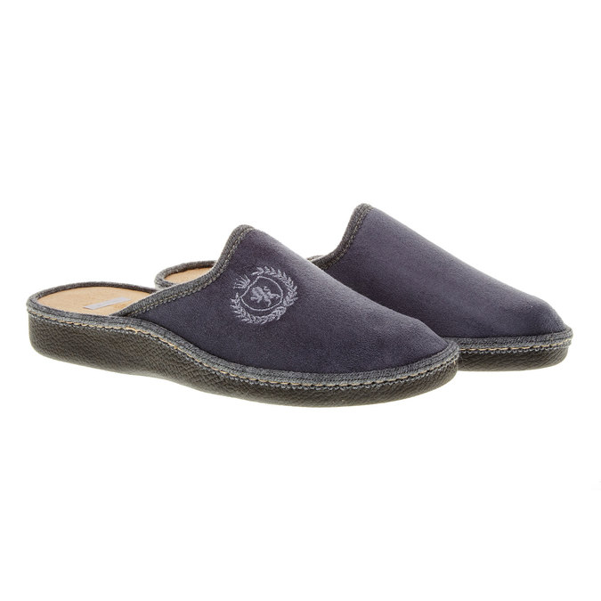 Męskie obuwie domowe bata, szary, 879-2165 - 26