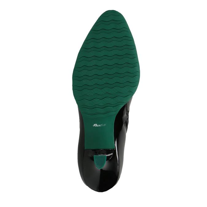 Skórzane kozaki zgumowym noskiem bata, czarny, 796-6630 - 26