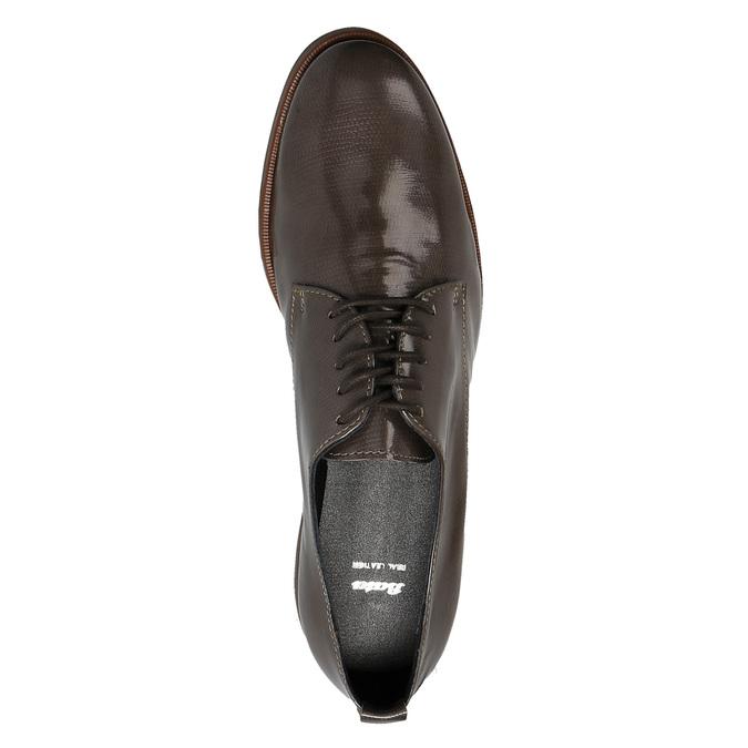 Półbuty damskie ze skóry bata, brązowy, 528-2600 - 19