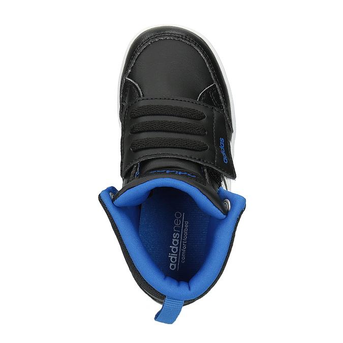 Trampki dziecięce za kostkę, zapinane na rzepy adidas, czarny, 101-6231 - 19