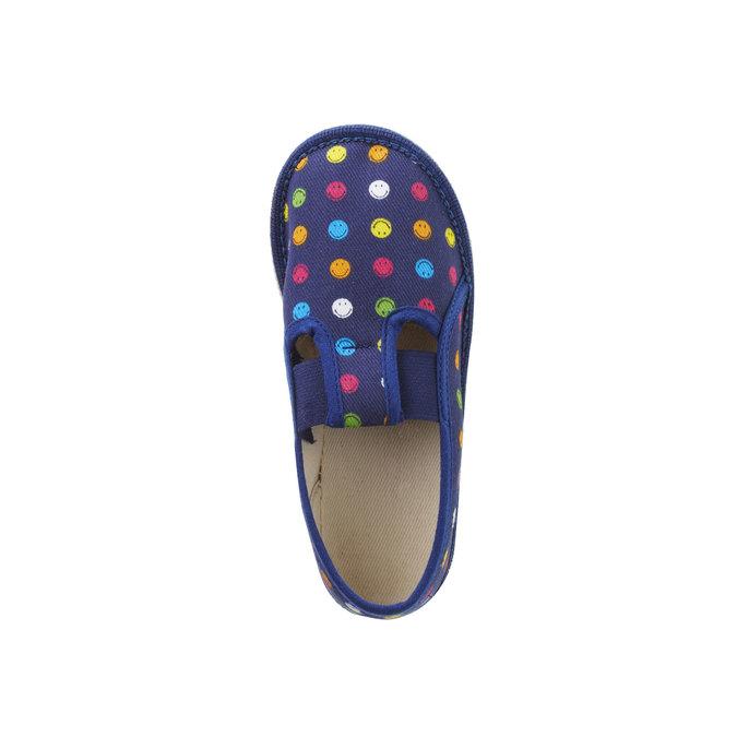 Dziecięce pantofle z uśmieszkami, niebieski, 179-9105 - 19