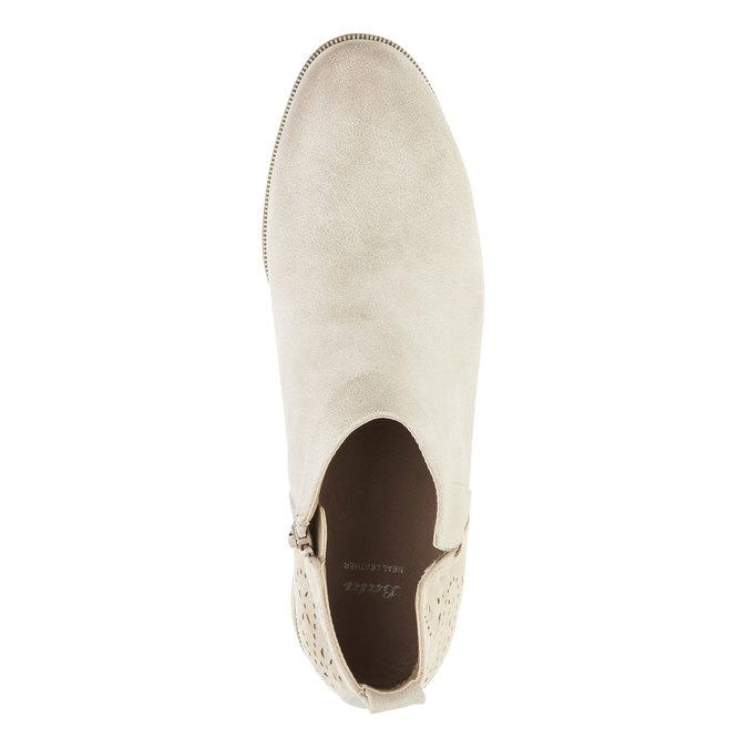 Wiosenne kozaki do kostki bata, biały, 591-8100 - 19