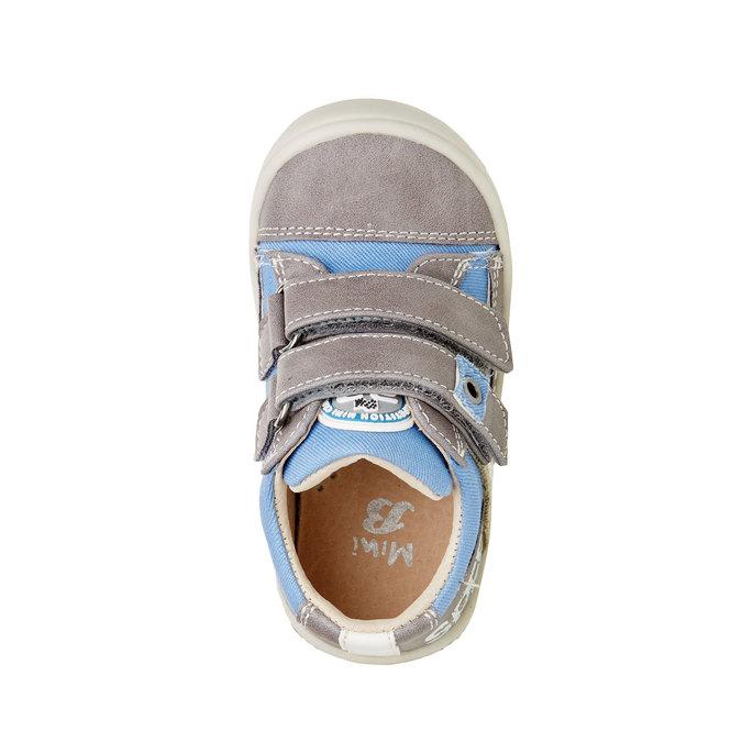 Dziecięce buty na rzep mini-b, szary, 111-2104 - 19