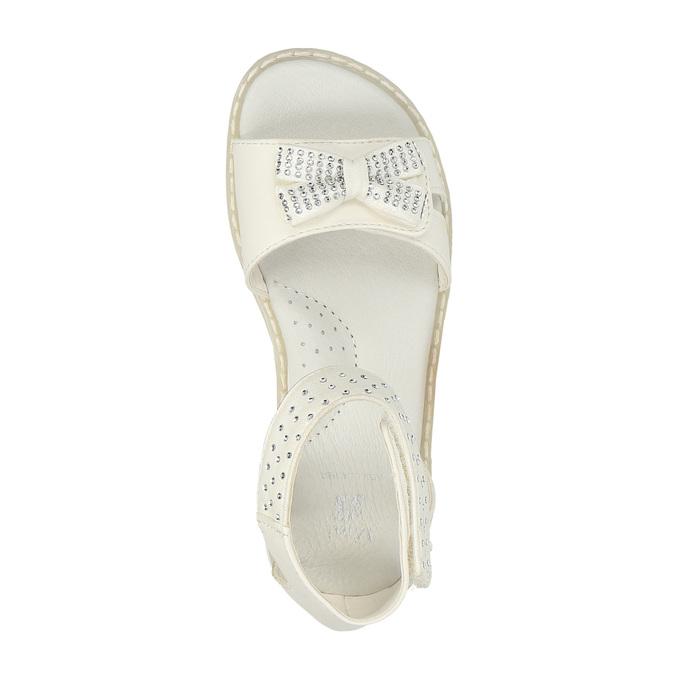 Dziewczęce sandały z kryształkami mini-b, biały, 261-1160 - 19