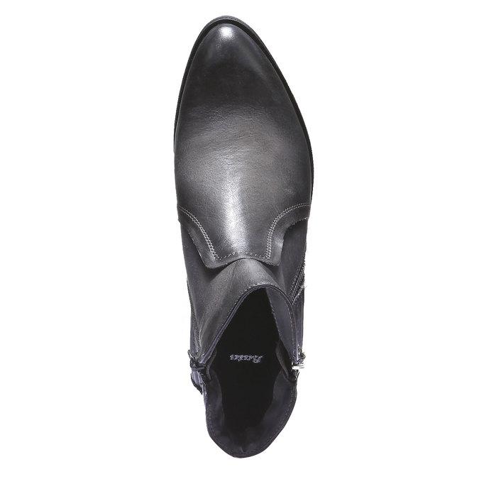Skórzane botki bata, szary, 594-2100 - 19