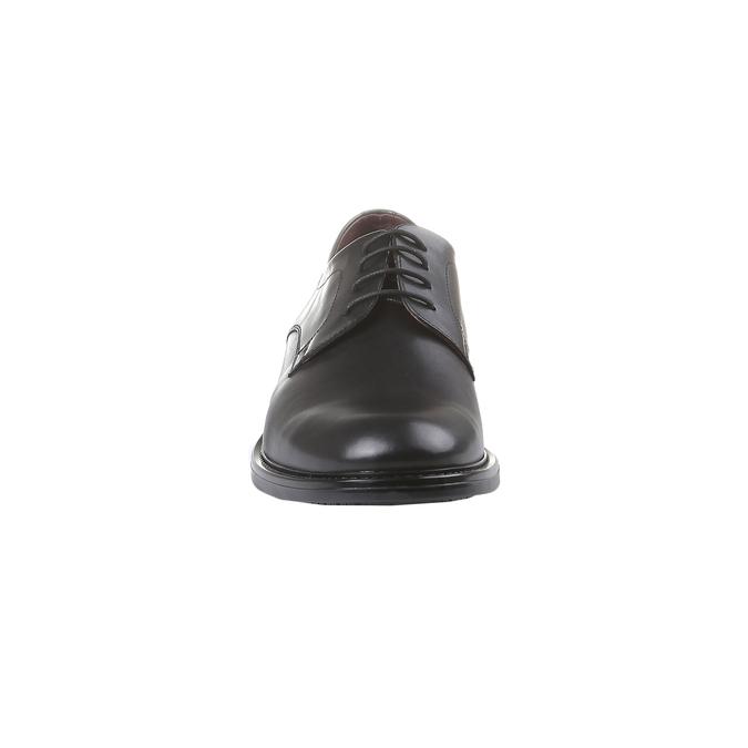 Skórzane brogsy Comfort bata-comfit, czarny, 824-6938 - 16