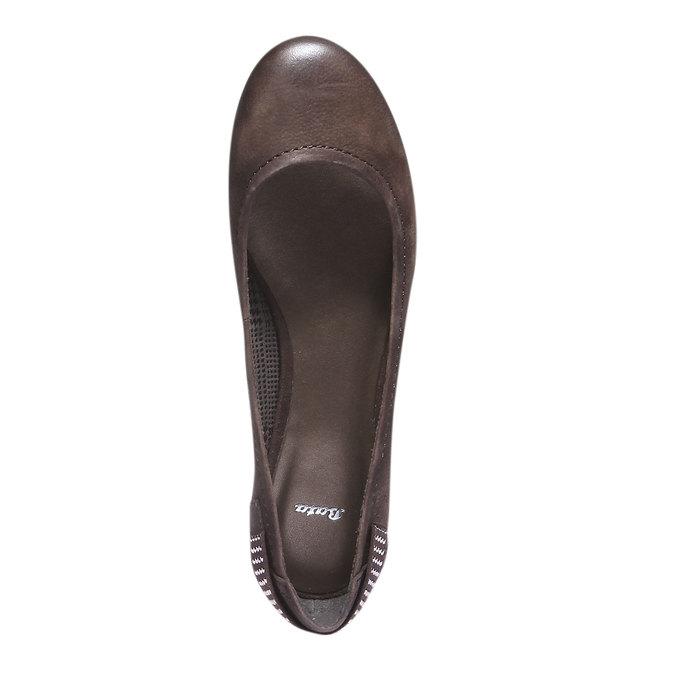 Skórzane baleriny bata, brązowy, 526-4101 - 19