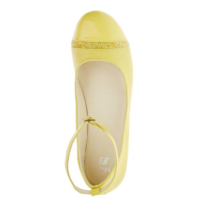 Żółte baleriny z paskiem mini-b, żółty, 321-8181 - 19