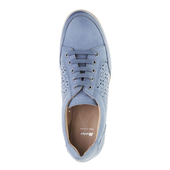 Skórzane buty sportowe na co dzień bata, niebieski, 524-9511 - 19
