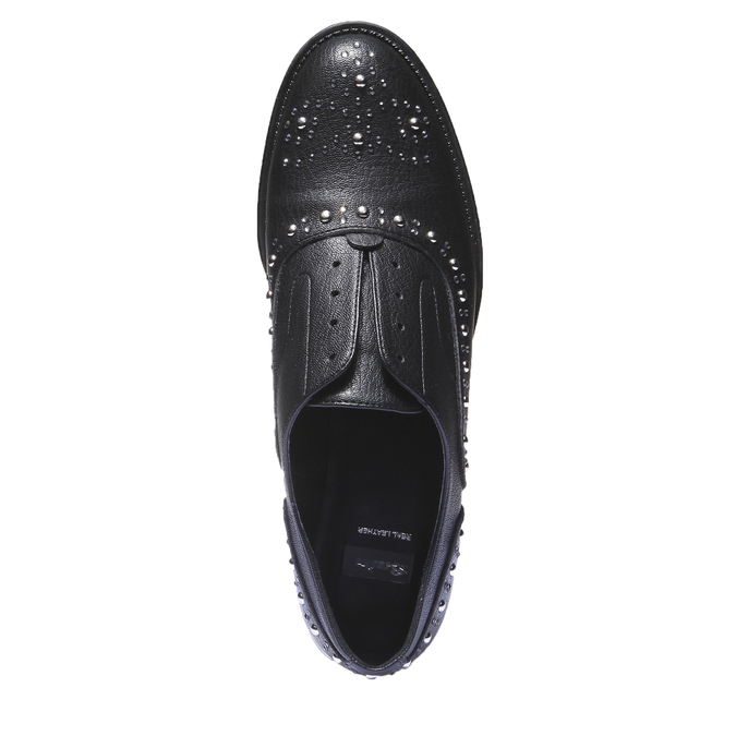 Damskie buty Slip-on z metalowymi ćwiekami bata, czarny, 511-6161 - 19