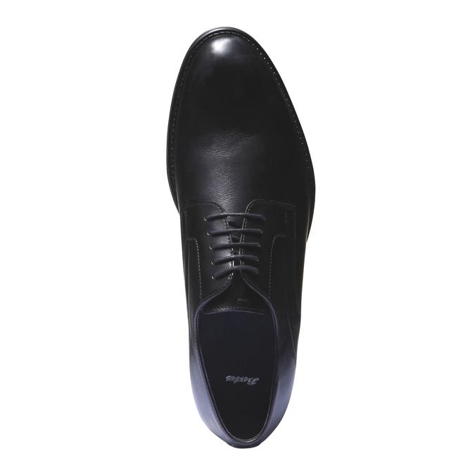 Skórzane półbuty w stylu derby bata, czarny, 824-6108 - 19
