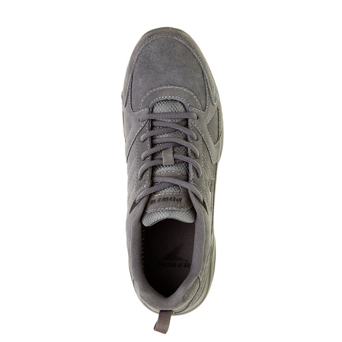 Skórzane buty sportowe power, szary, 803-2114 - 19