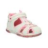 Dziewczęce sandały na rzep mini-b, biały, 121-1105 - 13
