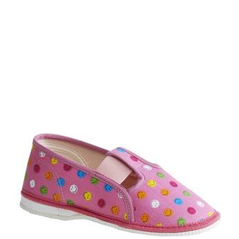 Dziecięce pantofle z uśmieszkami, różowy, 179-5105 - 13