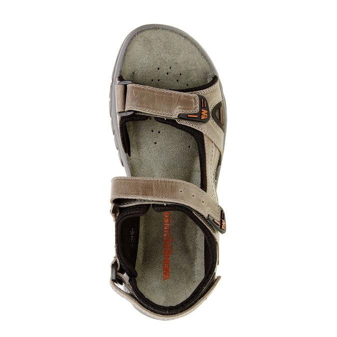 Męskie skórzane sandały weinbrenner, brązowy, 866-6107 - 19