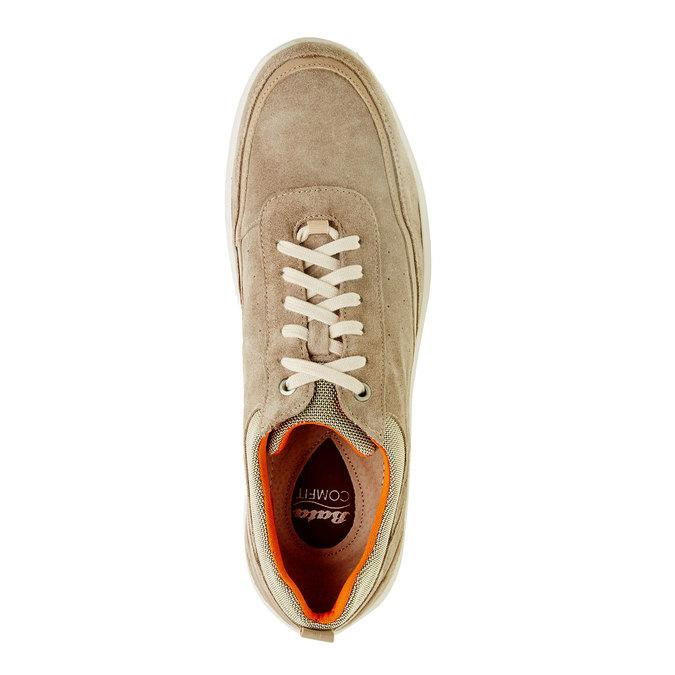 Skórzane buty sportowe na co dzień, beżowy, 843-8643 - 19