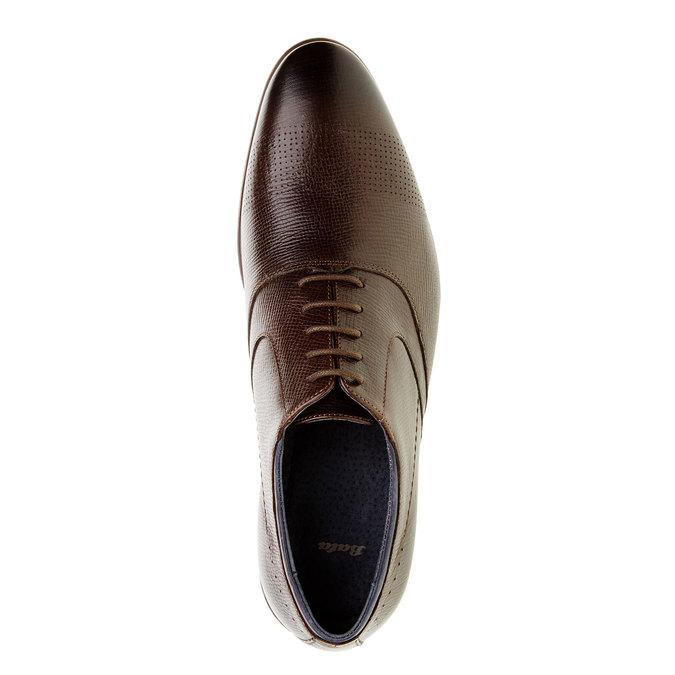 Skórzane półbuty o kroju Oxford bata, brązowy, 824-4812 - 19