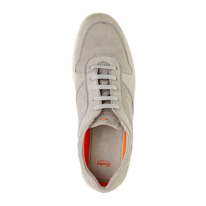 Skórzane buty sportowe na co dzień flexible, beżowy, 846-2650 - 19