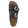 Skórzane klapki z korkową podeszwą birkenstock, niebieski, 866-9008 - 19