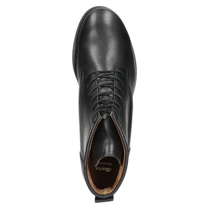 Skórzane botki bata, czarny, 594-6263 - 19