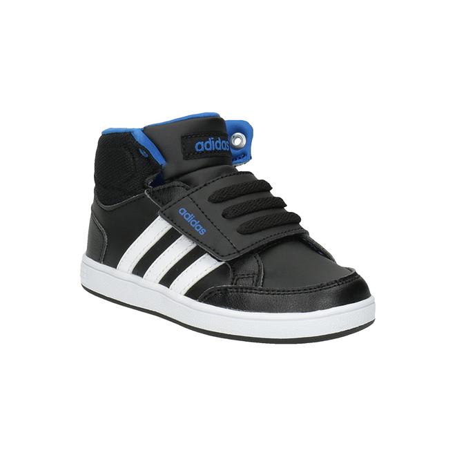 Trampki dziecięce za kostkę, zapinane na rzepy adidas, czarny, 101-6231 - 13