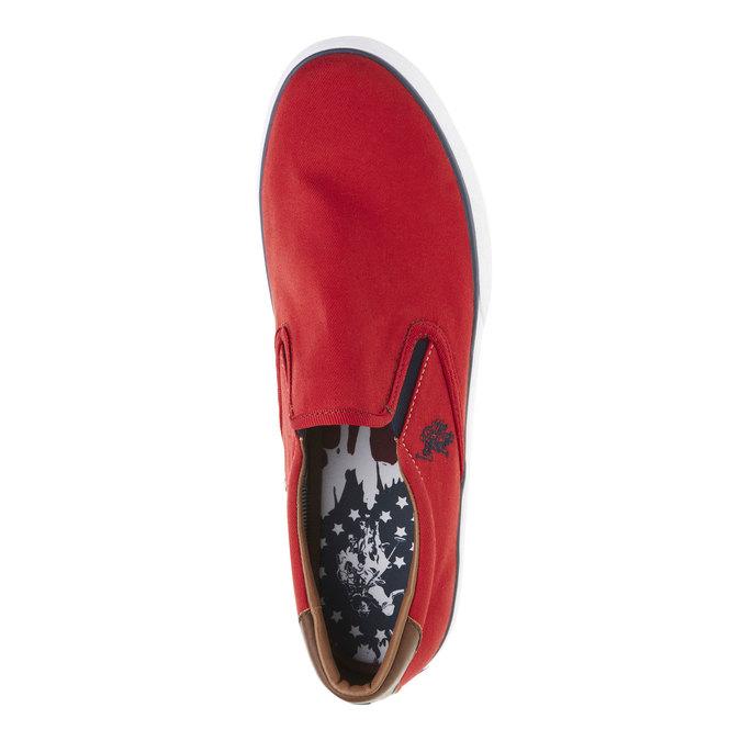 Czerwone slip on męskie u-s-polo-assn-, czerwony, 849-5002 - 19