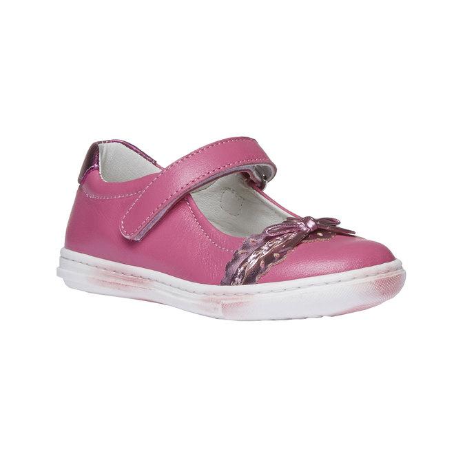 Dziewczęce pantofelki z kokardką mini-b, czerwony, 224-5165 - 13
