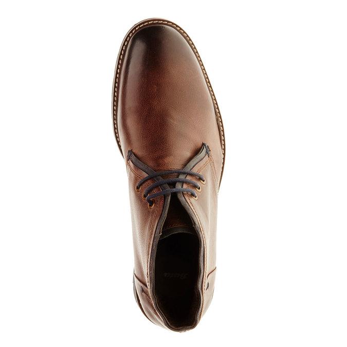 Skórzane buty typu Chukka bata, brązowy, 894-4126 - 19