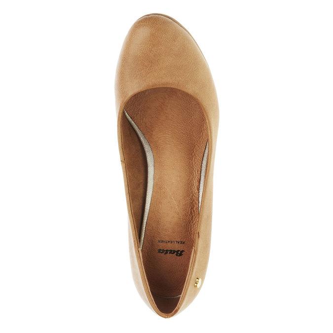 Czółenka na szerokim obcasie bata, brązowy, 721-4946 - 19