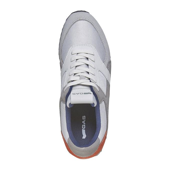 Męskie buty sportowe w codziennym stylu gas, szary, 843-2590 - 19