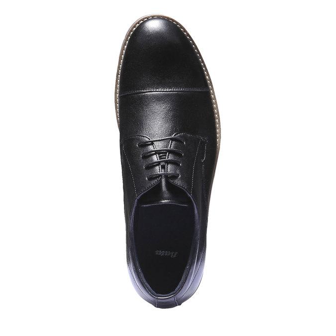 Skórzane półbuty bata, czarny, 824-6197 - 19