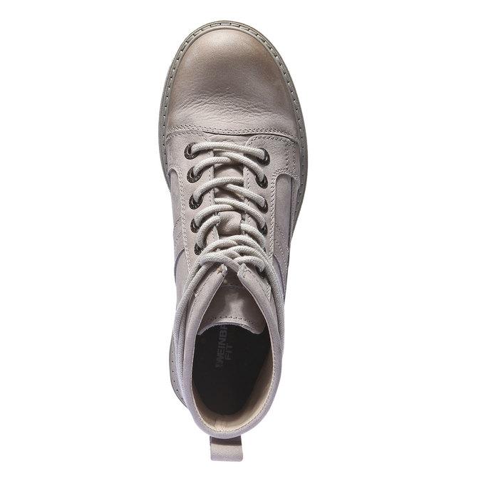 Skórzane buty z oryginalnymi sznurówkami weinbrenner, żółty, 596-8409 - 19