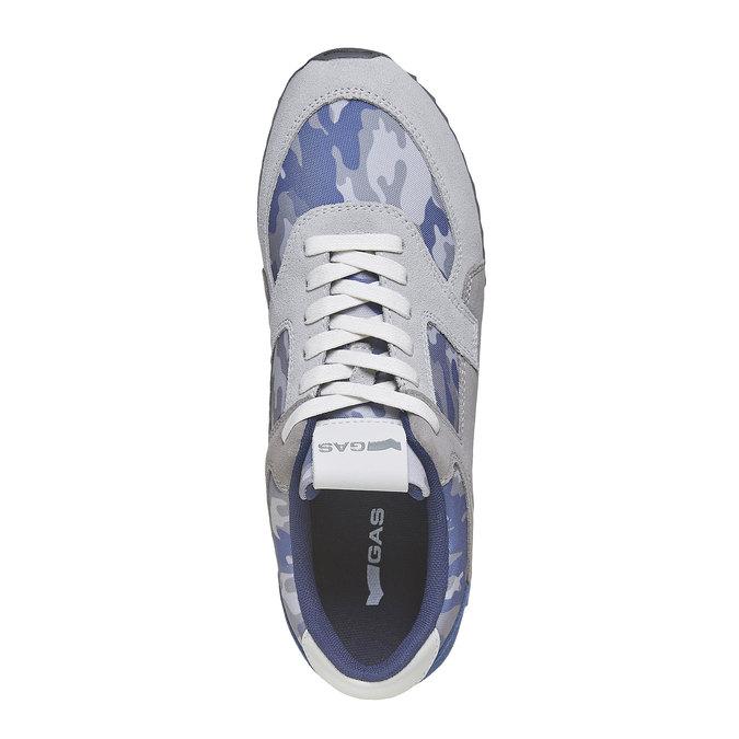 Męskie buty sportowe gas, niebieski, biały, szary, 843-9591 - 19