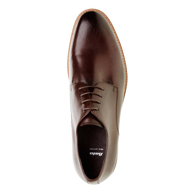 Skórzane półbuty o kroju Derby bata, brązowy, 824-4551 - 19
