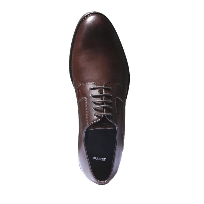Skórzane półbuty w stylu Derby bata, brązowy, 824-4874 - 19