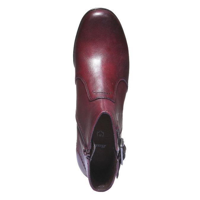 Skórzane botki bata, czerwony, 794-5100 - 19
