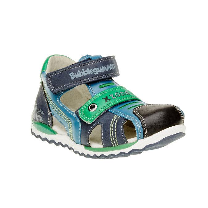 Dziecięce skórzane sandały bubblegummer, niebieski, 114-9144 - 13