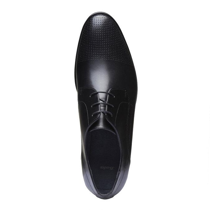 Męskie skórzane półbuty bata, czarny, 824-6275 - 19