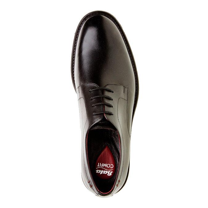 Skórzane brogsy Comfort bata-comfit, czarny, 824-6938 - 19
