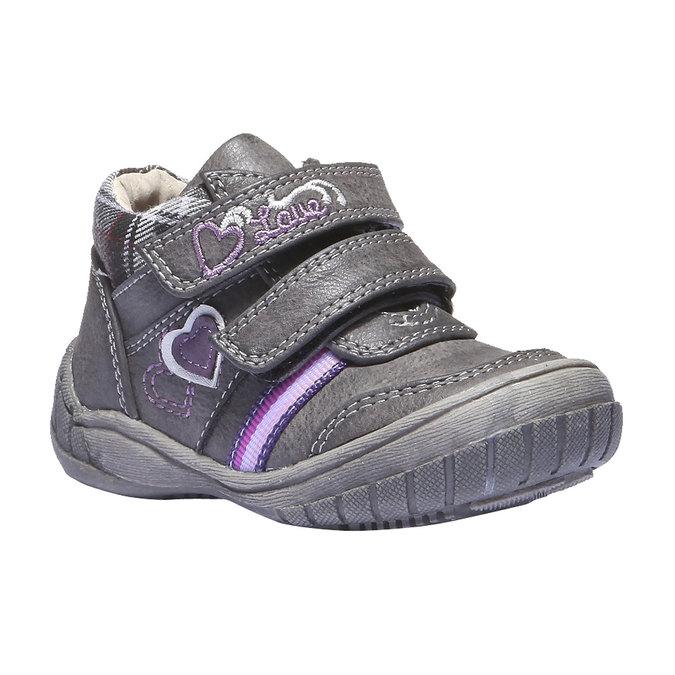Dziecięce buty sportowe mini-b, szary, 121-2100 - 13